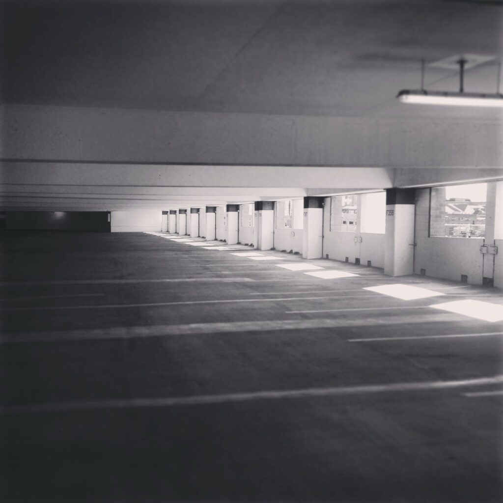 Empty parking garage #minneapolis